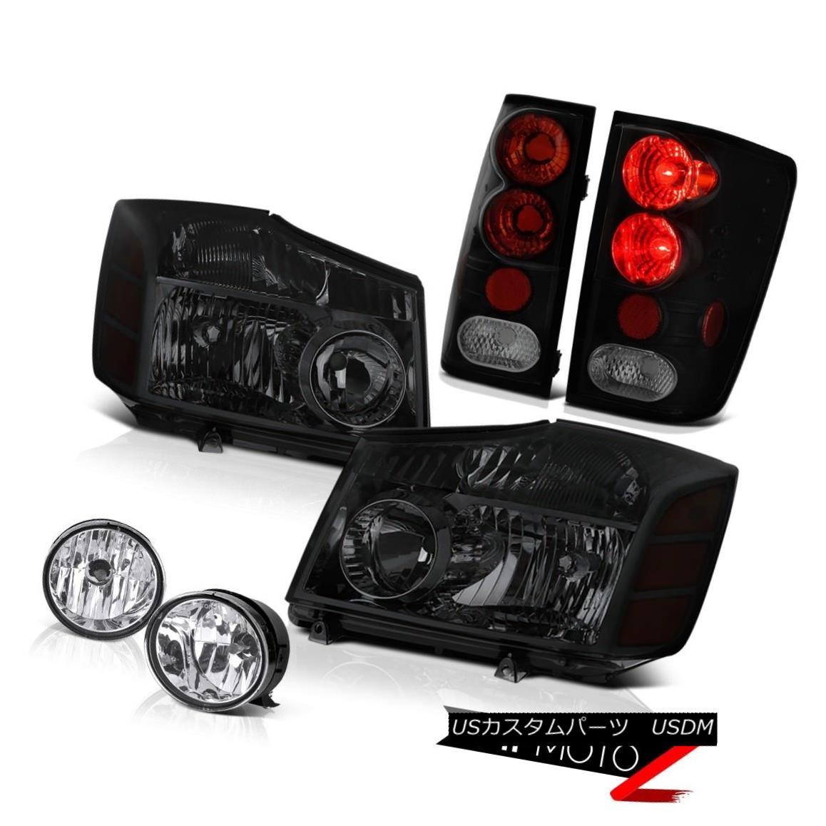 テールライト For 2004-2015 Titan SL Smoke Tinted Headlamps Brake Tail Lights Bumper Fog 2004年?2015年タイタンSL煙がかかったヘッドランプブレーキテールライトバンパーフォグ
