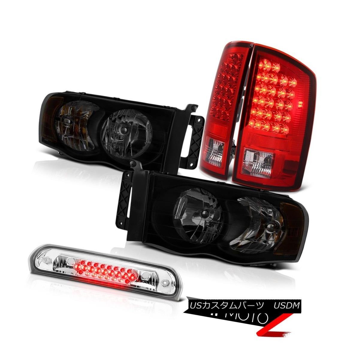 テールライト 02-05 Ram 1500 2500 3500 Ws Headlamps Clear Chrome Roof Cab Lamp Red Taillights 02-05 Ram 1500 2500 3500 Wsヘッドランプクリアクローム屋根キャブランプレッドティール
