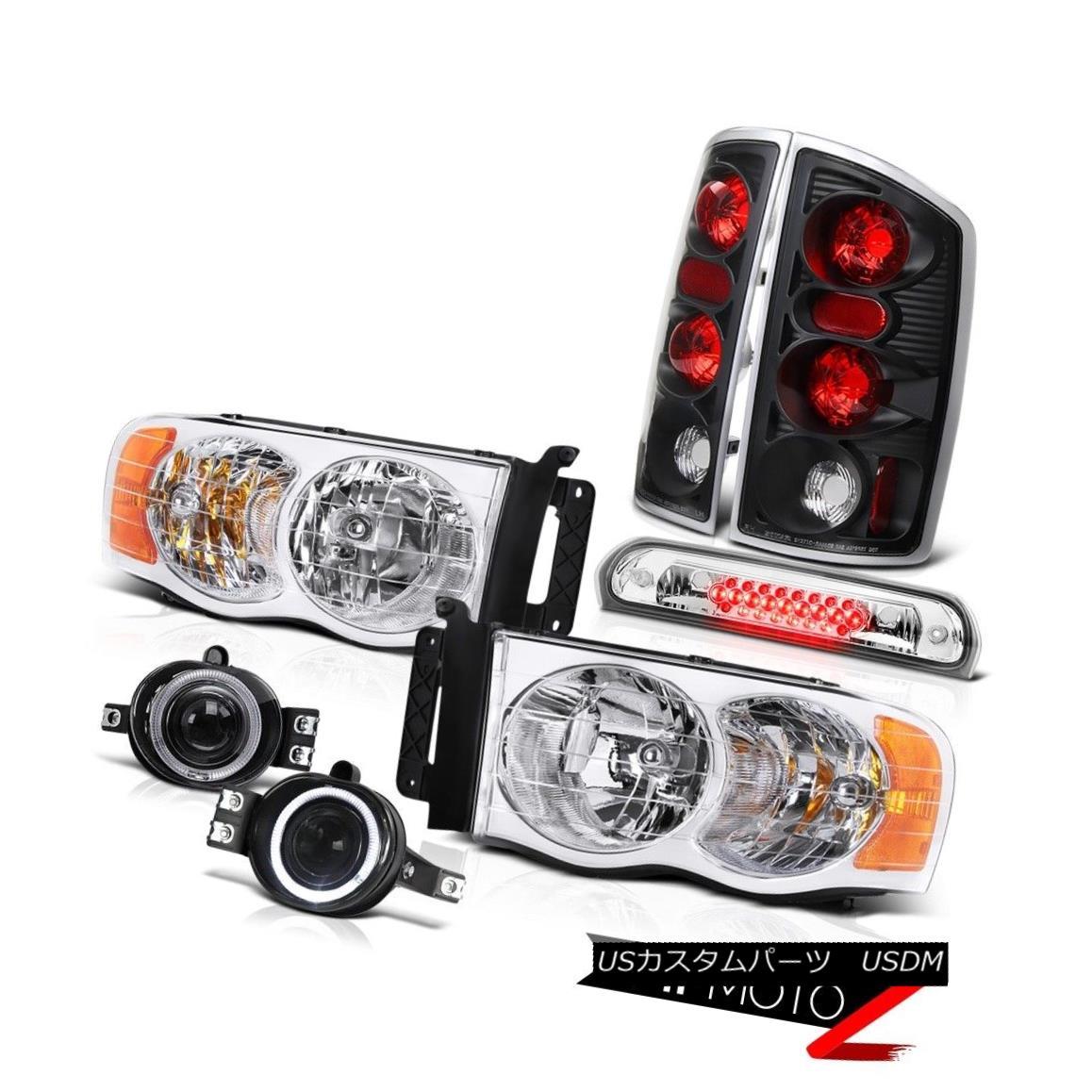 テールライト 02 03 04 05 Ram 3500 Crystal Clear Headlamps Tail Lamps Glass Fog Euro Third LED 02 03 04 05 Ram 3500クリスタルクリアヘッドランプテールランプガラス曇りユーロ第3 LED