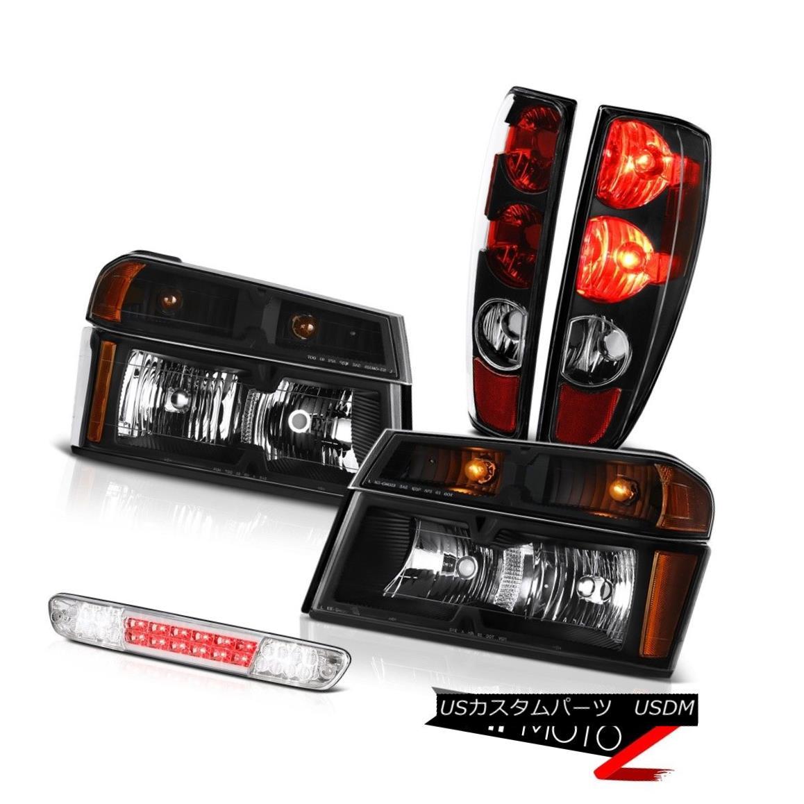 テールライト 04-08 09-12 Colorado Matte Black Tail Light Set Head Euro Clear Third Brake L+R 04-08 09-12コロマットブラックテールライトセットヘッドユーロクリア第3ブレーキL + R