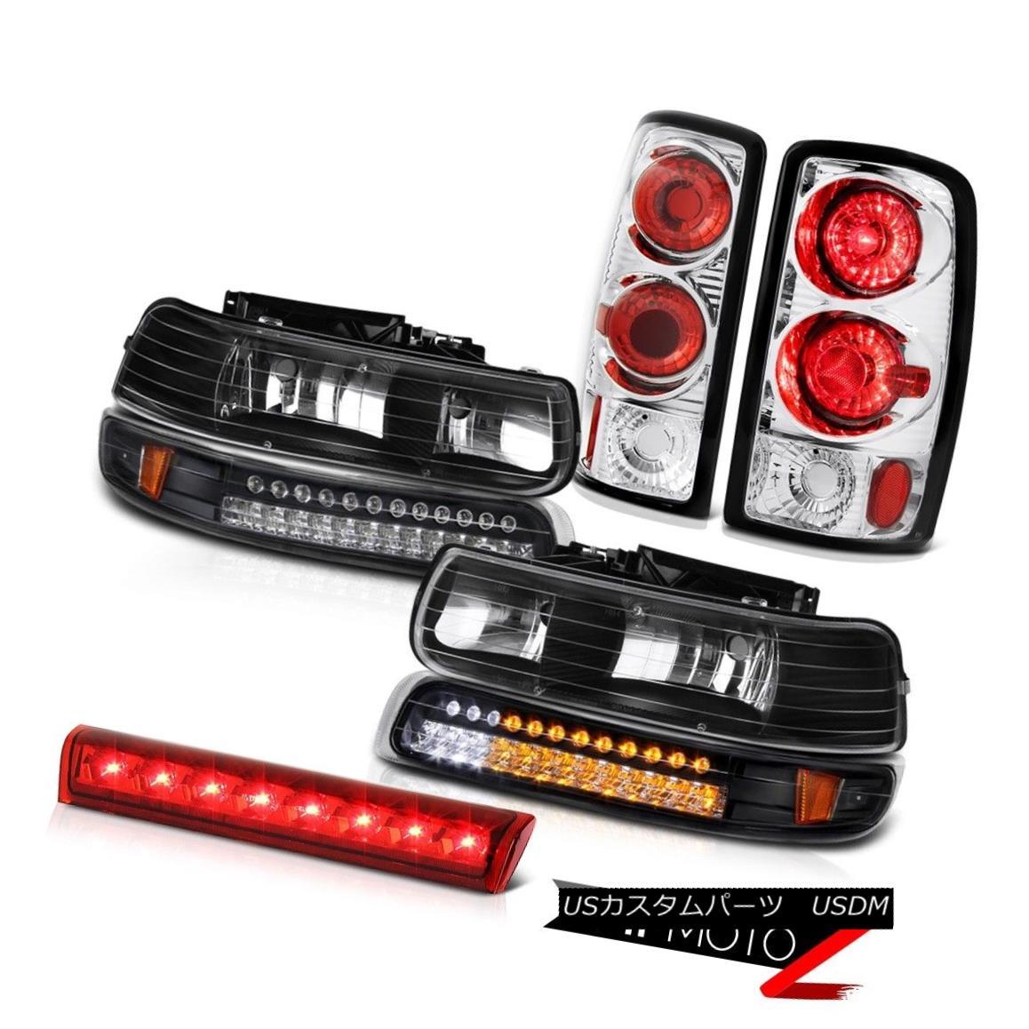 テールライト Black Headlights Headlamps SMD Matte Tail Lights High Cargo LED 00-06 Tahoe Z71 ブラックヘッドライトヘッドランプSMDマットテールライトハイカーゴLED 00-06タホZ71