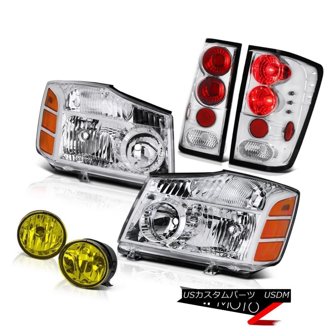 テールライト For 2004-2015 09 Titan SE Pair Clear Headlights Brake Tail Lights Driving Fog 2004年?2015年9月タイタンSEペアクリアヘッドライトブレーキテールライトドライビングフォグ