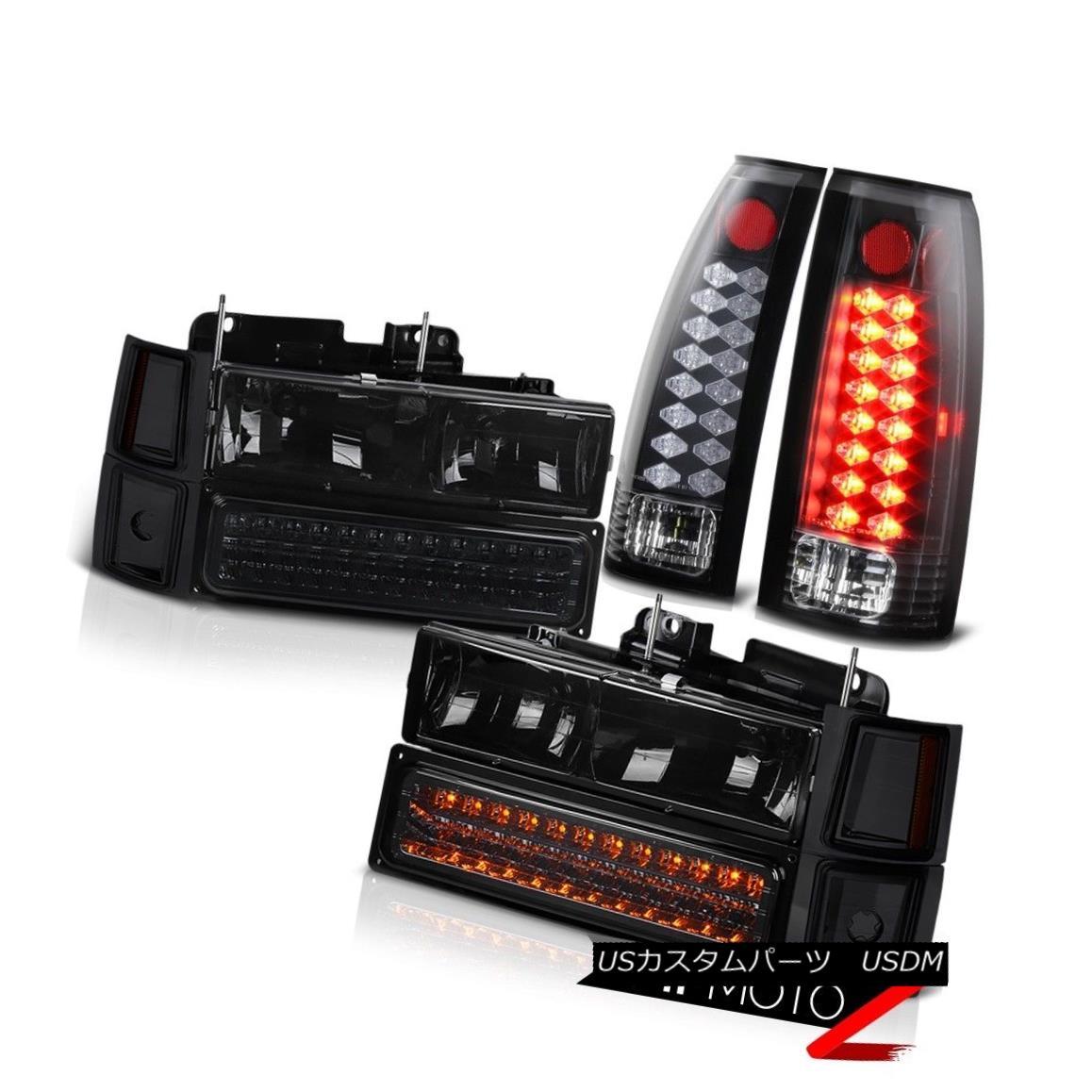 テールライト LED Signal Brake Parking Bulb Tail Light+Corner Side Marker Headlight Bumper set LED信号ブレーキ駐車場電球テールライト+コーナーサイドマーカーヘッドライトバンパーセット