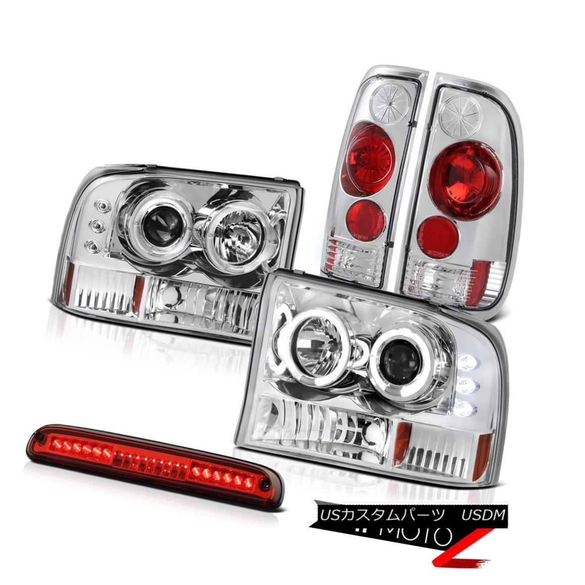 テールライト LED DRL Headlamps Rear Signal Lamps Third Brake Cargo 99 00 01 02 03 04 F250 LED DRLヘッドランプリアシグナルランプ第3ブレーキ貨物99 00 01 02 03 04 F250