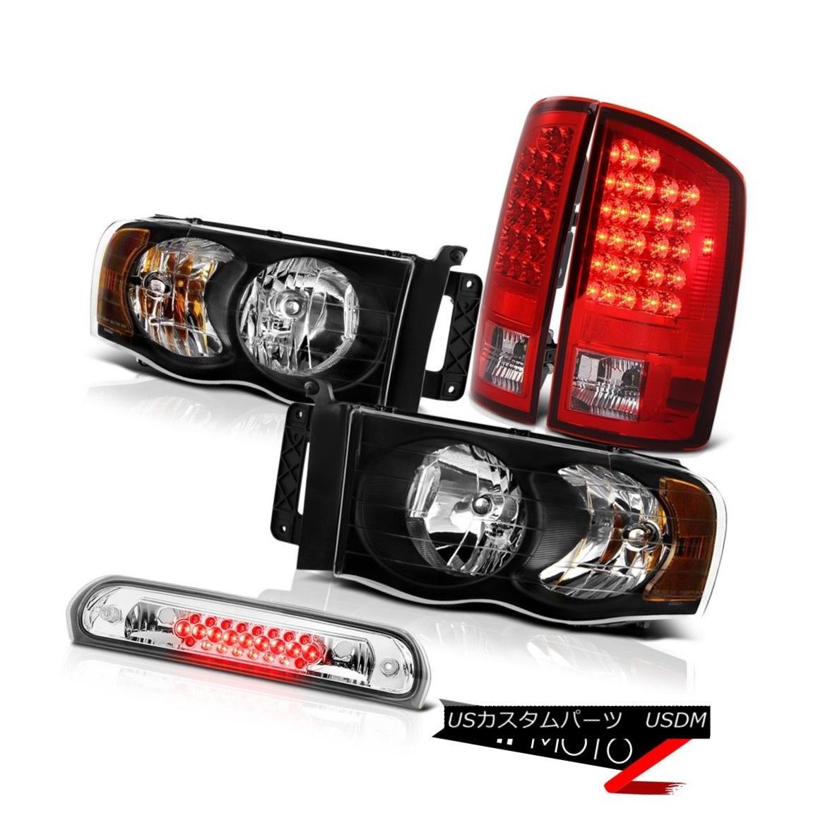 テールライト Black Headlights Red Brake LED Tail Lights 3rd Cargo 02 03 04 05 Ram TurboDiesel ブラックヘッドライトレッドブレーキLEDテールライト3rd Cargo 02 03 04 05 Ram TurboDiesel