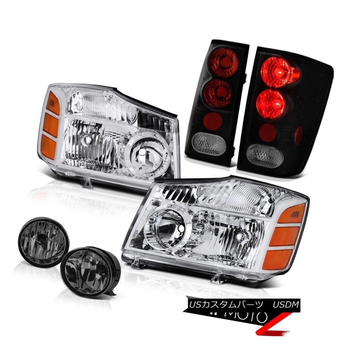 テールライト For 2004-2015 Titan S Euro Chrome Headlights Rear Reverse Tail Lights Foglights 2004年?2015年Titan S Euroクロームヘッドライトリアテールライトフォグライト