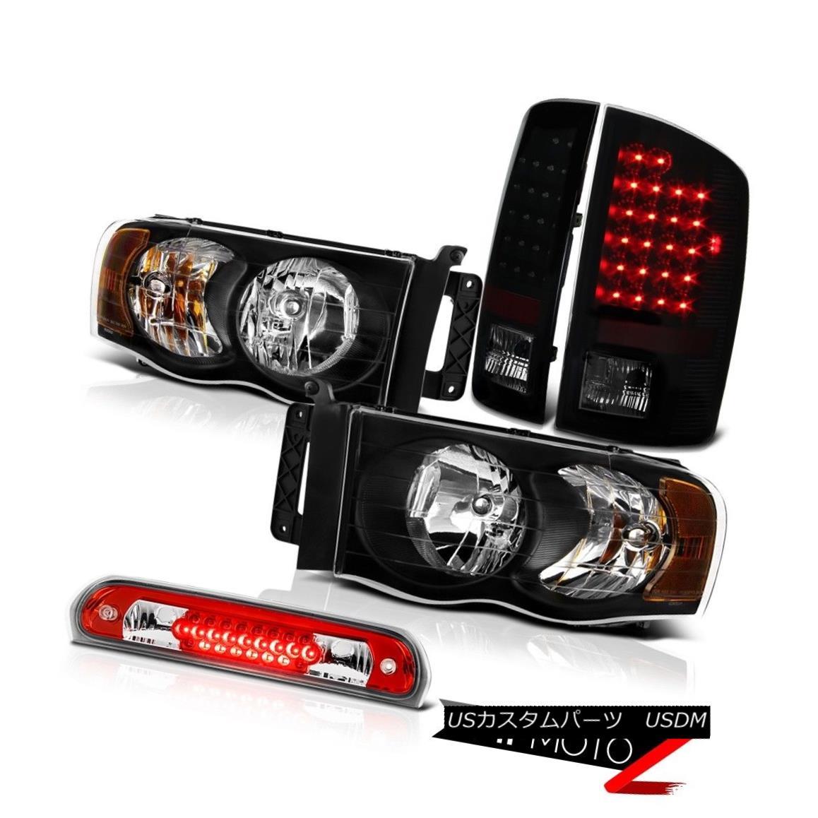 テールライト Jet Black Headlights LED Tail Lights Lamps High Stop 02 03 04 05 Ram Magnum V8 ジェットブラックヘッドライトLEDテールライトランプハイストップ02 03 04 05ラムマグナムV8