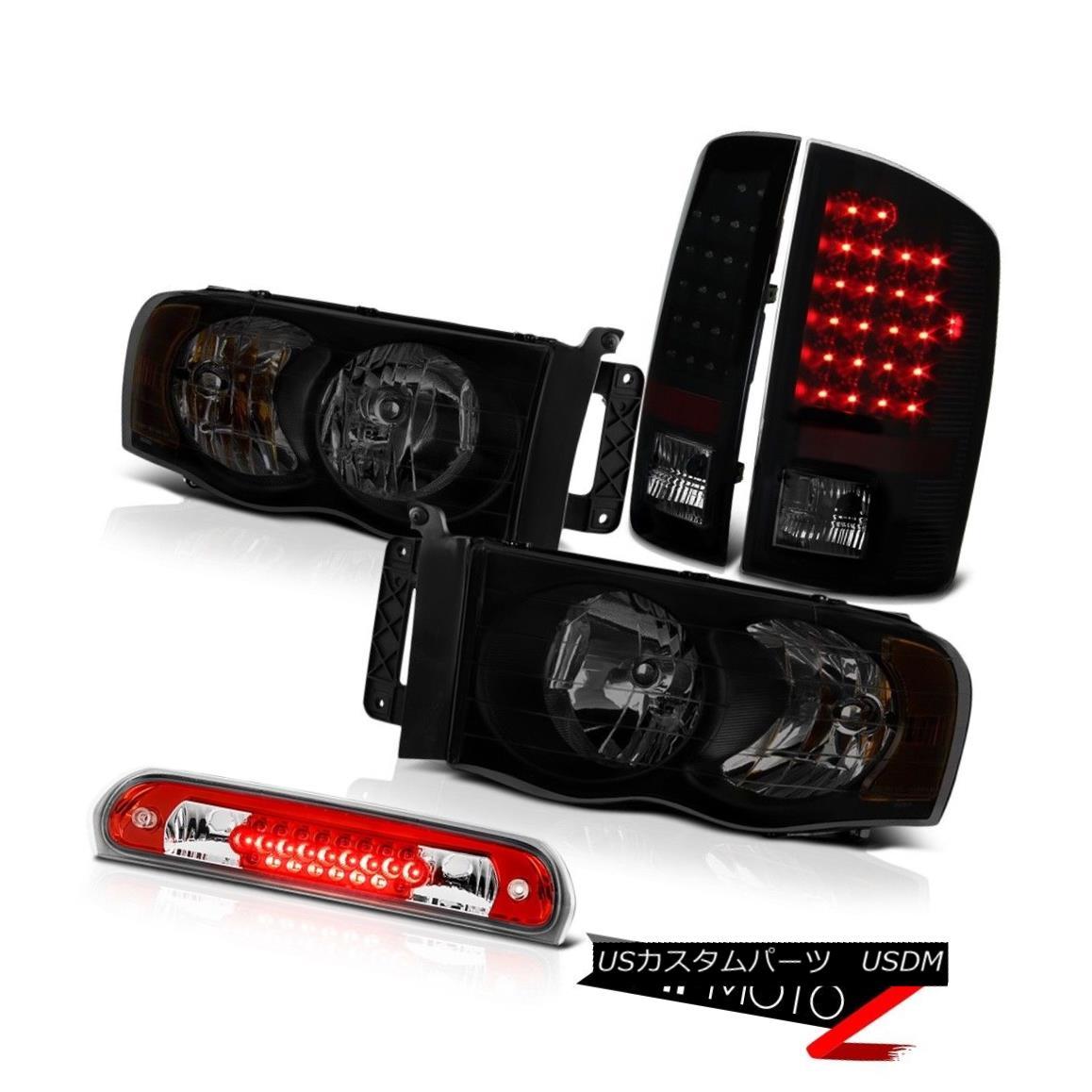 テールライト 2003-2005 Dodge Ram 3500 4.7L Darkest Smoke Headlights Roof Cab Lamp Tail Lights 2003-2005 Dodge Ram 3500 4.7L最も暗い煙のヘッドライトルーフキャブのランプテールライト