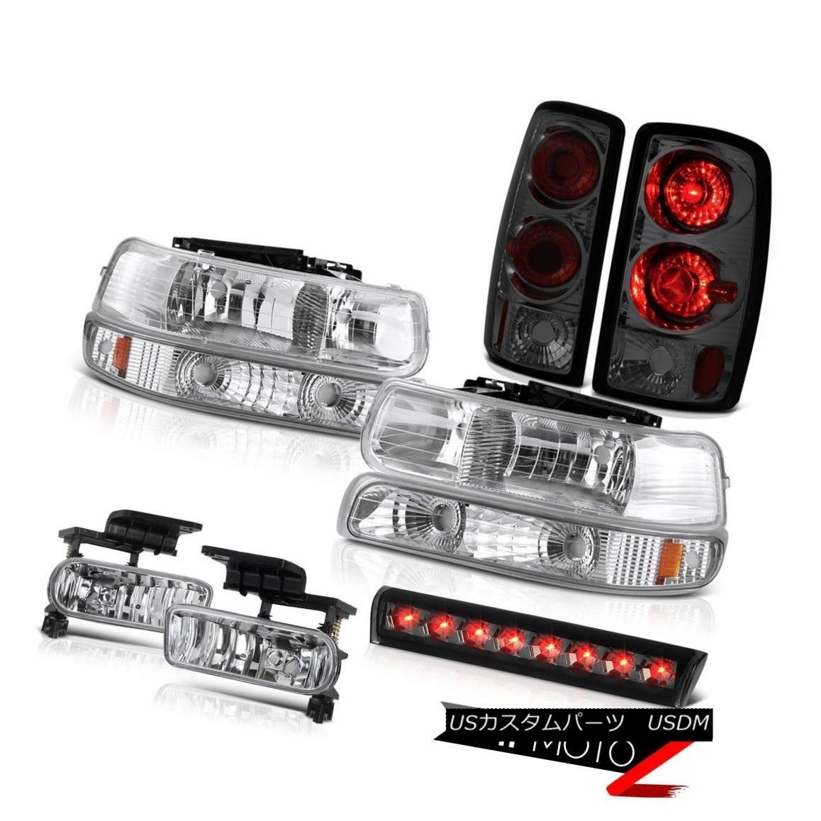 テールライト 2000-2006 Suburban 1500 4X4 Smoked 3rd brake lamp fog lights rear Headlights 2000-2006郊外1500 4X4スモーク3番ブレーキランプフォグライトリアライト