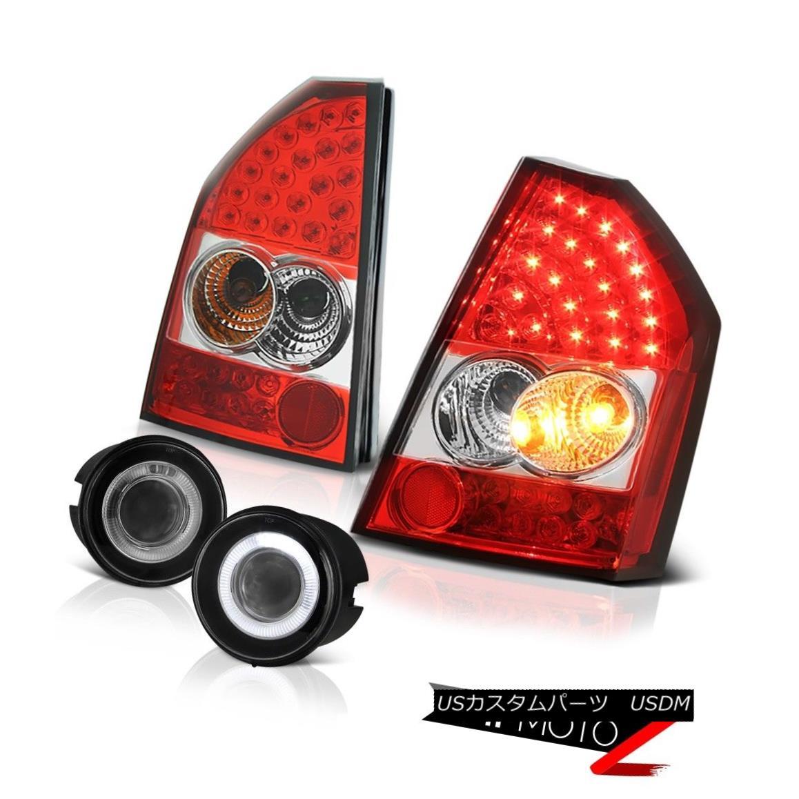 テールライト 08-10 Chrysler 300C SRT8 Rosso Red LED Tail Lights Projector Bumper Foglights 08-10クライスラー300C SRT8ロッソレッドLEDテールライトプロジェクターバンパーフォグライト