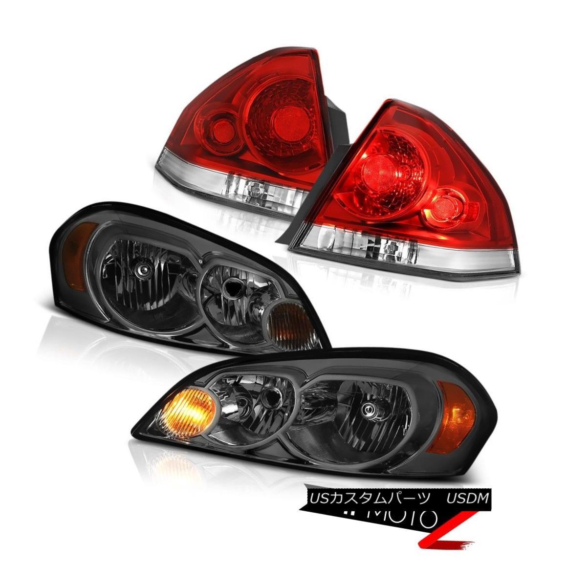 テールライト 06-13 CHEVY IMPALA LTZ Rosso red taillights headlights Factory Style OE Style 06-13 CHEVY IMPALA LTZロッソレッドテールライトヘッドライト工場スタイルOEスタイル