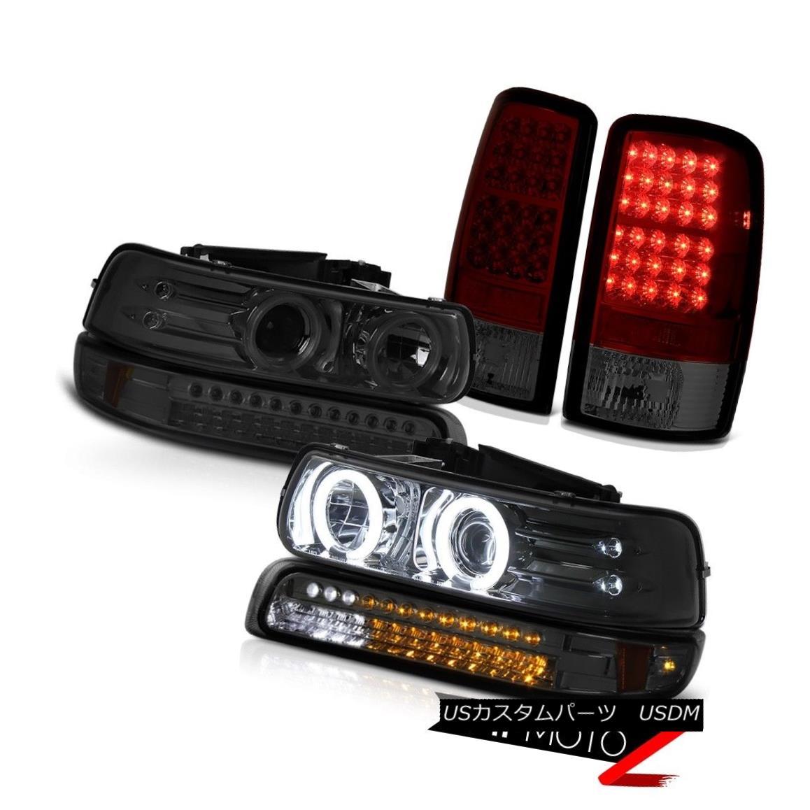 テールライト Devil's Eye CCFL Halo Headlights LED Smoke Parking Red Tail Lights 00-06 Tahoe 悪魔の目CCFLハローヘッドライトLEDスモークパーキングレッドテールライト00-06タホ