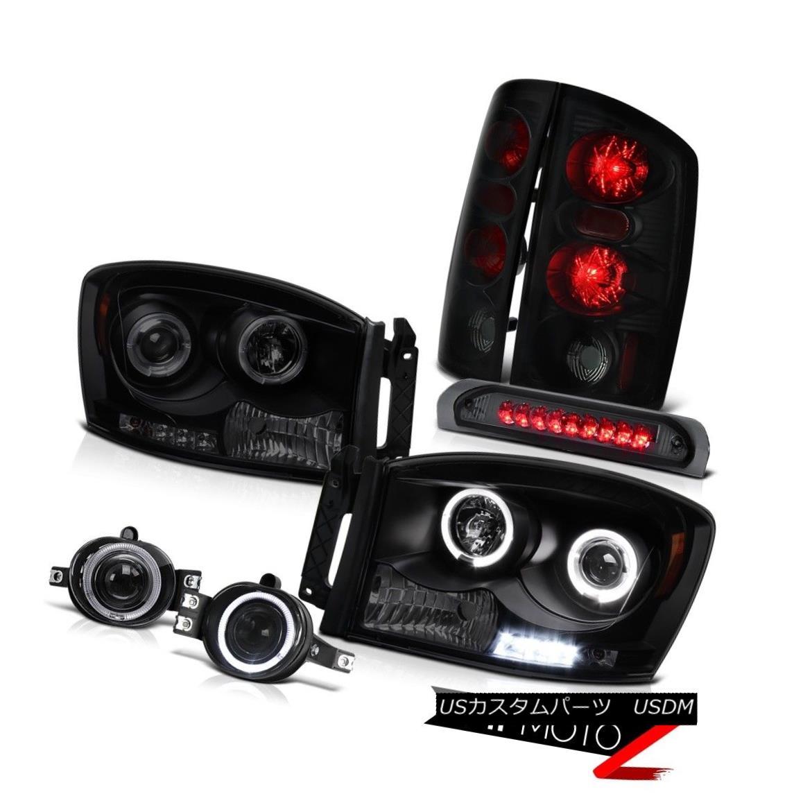 テールライト 2006 Dodge Ram 5.9L Projector Angel Eye Headlight LED SMD DRL Foglight Stop Lamp 2006 Dodge Ram 5.9LプロジェクターエンジェルアイヘッドライトLED SMD DRLフォグライトストップランプ