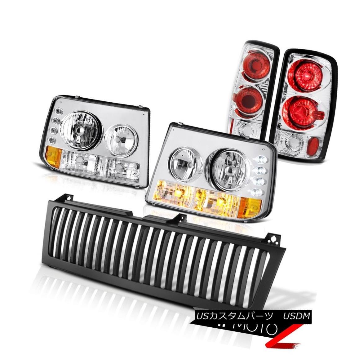 テールライト 00 01 02 03 04 05 06 Suburban 5.7L Bumper Headlight Euro Tail Light Black Grille 00 01 02 03 04 05 06郊外5.7Lバンパーヘッドライトユーロテールライトブラックグリル