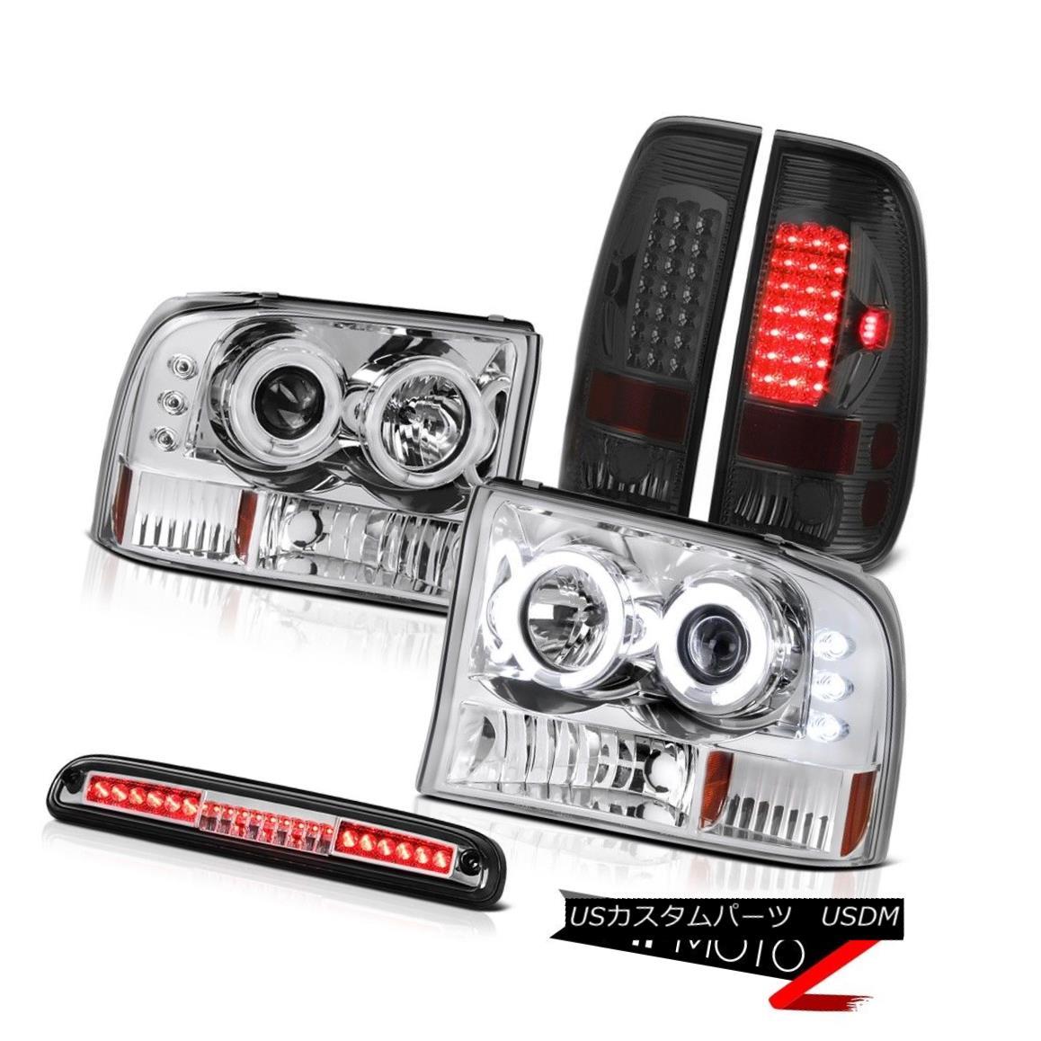 テールライト Euro CCFL Headlights Tail Light Smoke Roof Brake LED 99 00 01 02 03 04 F250 6.8L ユーロCCFLヘッドライトテールライトスモークルーフブレーキLED 99 00 01 02 03 04 F250 6.8L