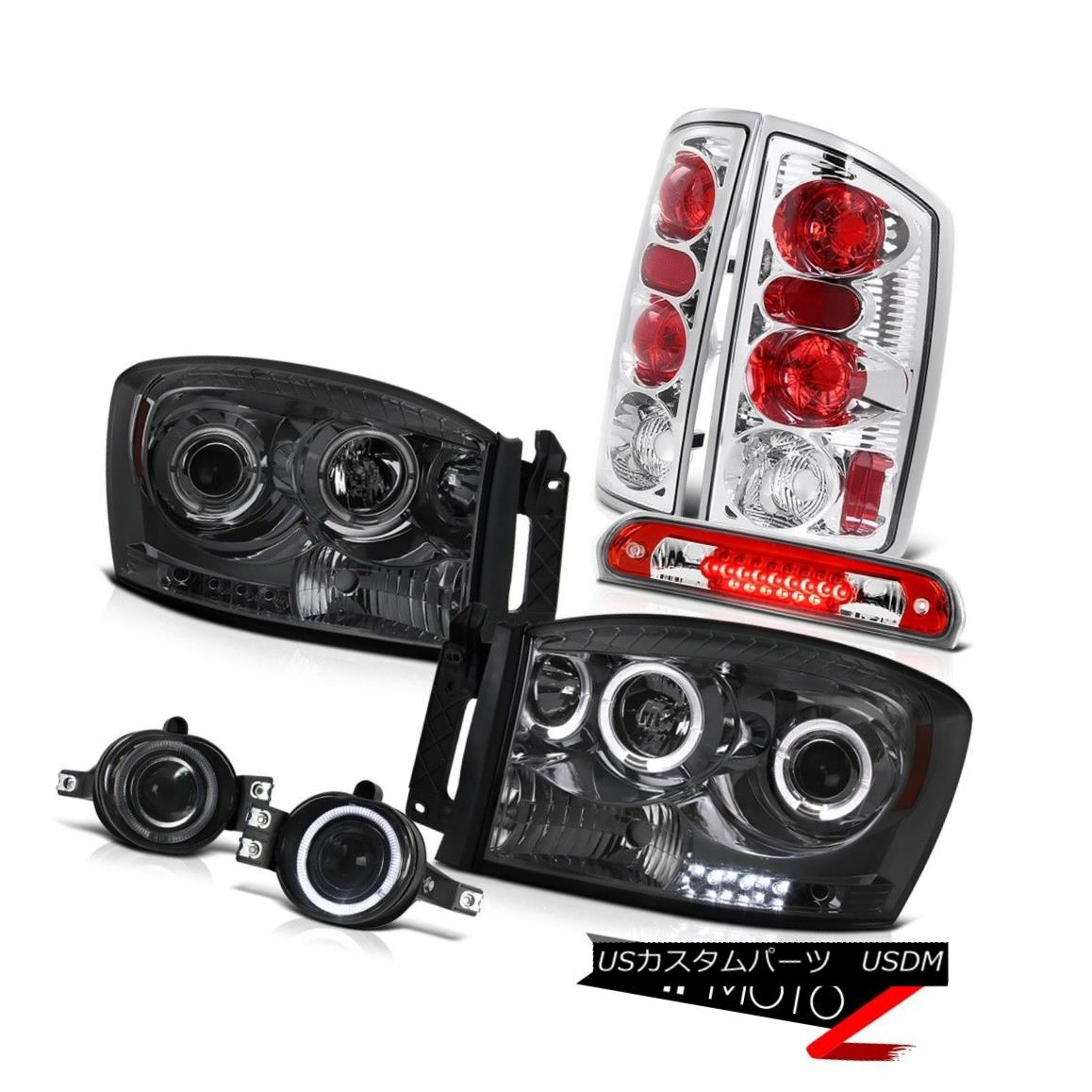 テールライト Smoke Halo Headlights Rear Tail Lamps Fog Roof Brake LED 2006 Dodge Ram 煙ハローヘッドライトリアテールランプ霧屋根ブレーキLED 2006 Dodge Ram