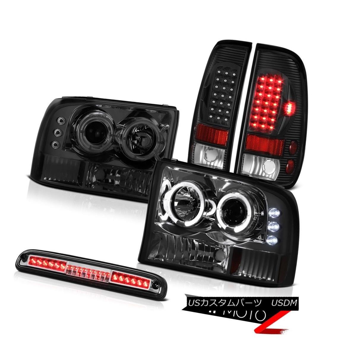 テールライト Headlights Halo DRL LED Black TailLight High Brake 99 00 01 02 03 04 F350 King ヘッドライトHalo DRL LEDブラックTailLightハイブレーキ99 00 01 02 03 04 F350 King