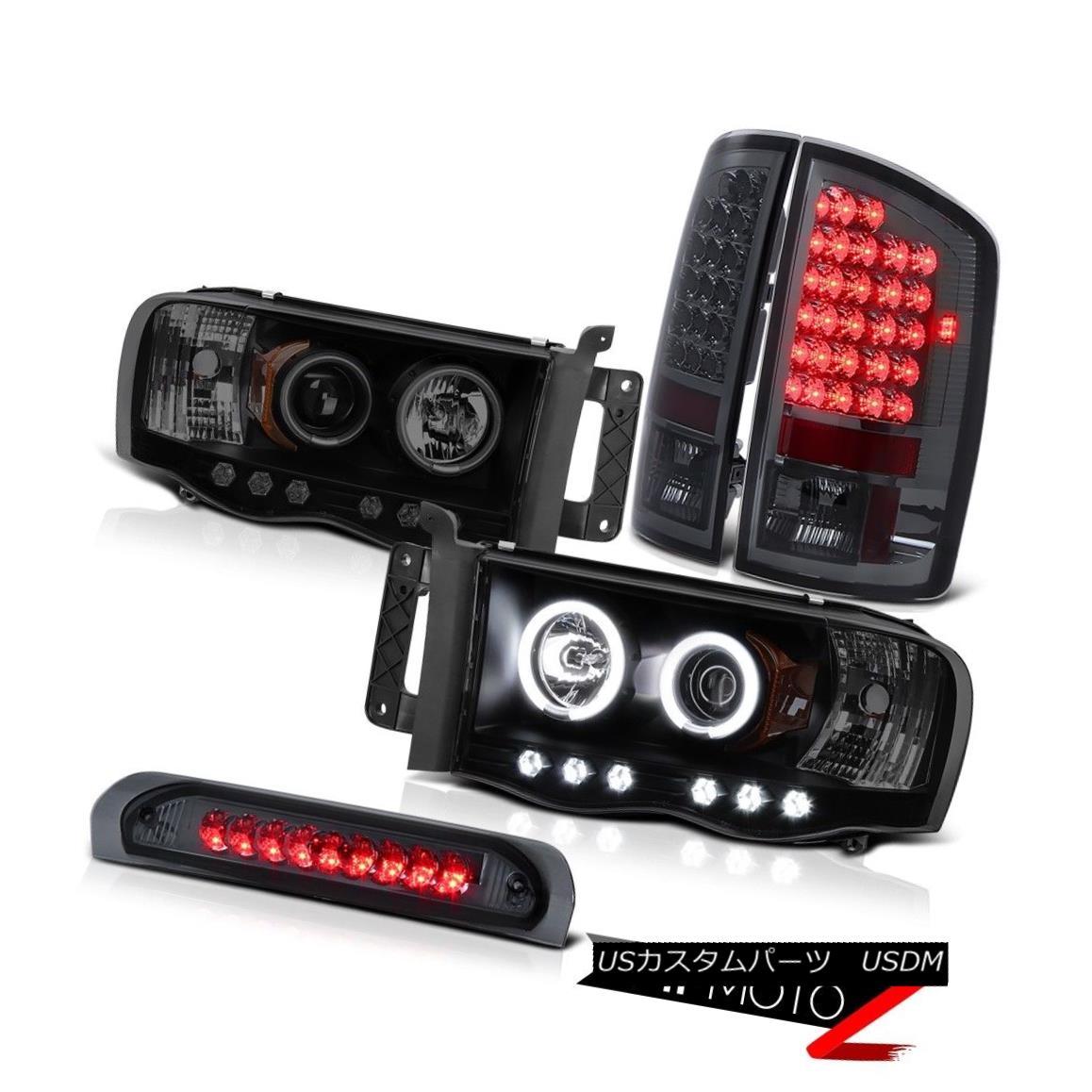 テールライト 2002 2003 Ram V6 V8 ST CCFL Angel Eye Projector Headlight Dark LED Brake Tail 2002 2003 V6 V8 ST CCFLエンジェルアイプロジェクターヘッドライトダークLEDブレーキテール