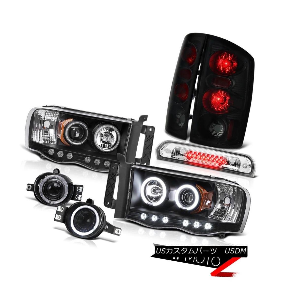 テールライト 2002-2005 Ram Magnum V8 Projector CCFL Sinister Black Brake Light Fog Third LED 2002-2005 Ram Magnum V8プロジェクターCCFL Sinisterブラックブレーキライトフォグ第3 LED