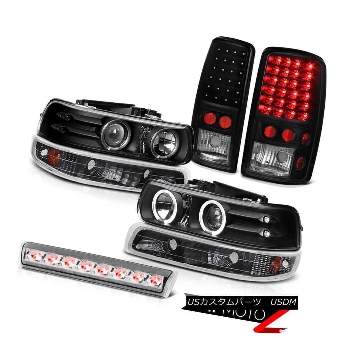 テールライト DRL LED Angel Eye Headlights Signal SMD Brake Lights Clear 00-06 Suburban 5.3L DRL LEDエンジェルアイヘッドライト信号SMDブレーキライトクリア00-06郊外5.3L