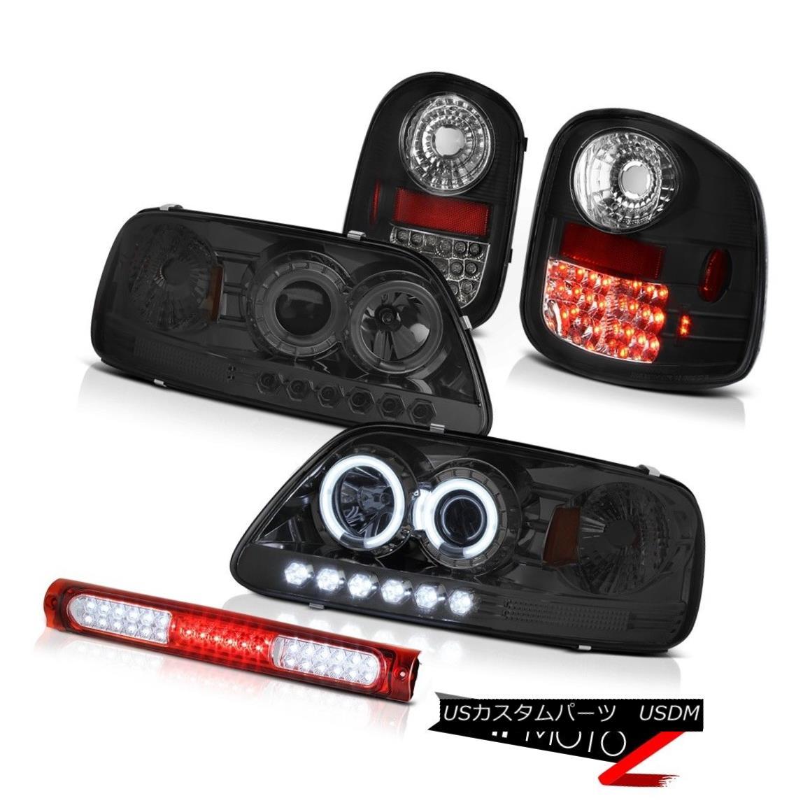テールライト Tint CCFL Rim Headlights Tail Lights 3rd Brake Red LED 97-03 F150 Flareside 4.2L 色合いCCFLリムヘッドライトテールライト第3ブレーキ赤色LED 97-03 F150フレアサイド4.2L