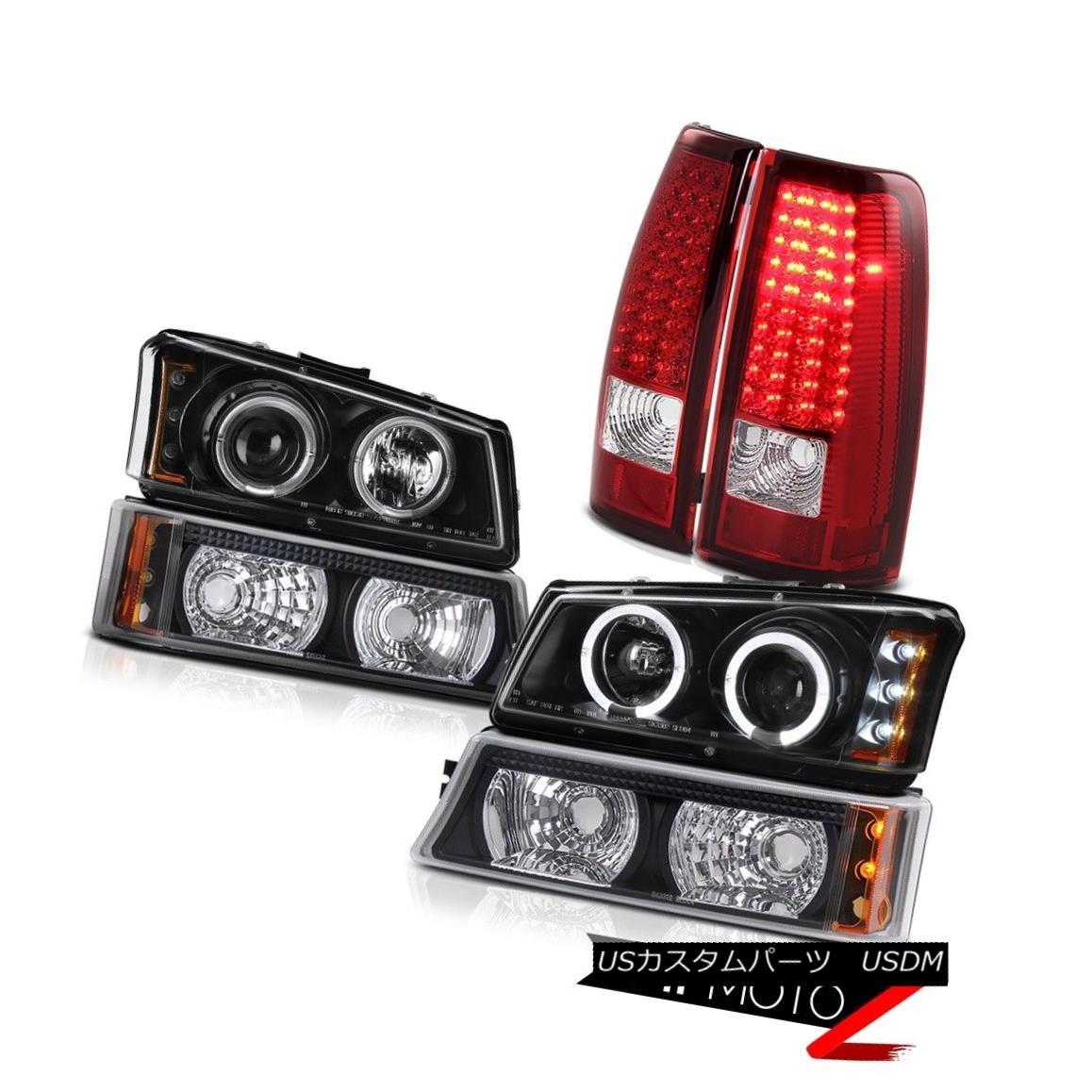 テールライト LED Daytime Head Lights Black Signal Brake Taillights 2003-2006 Silverado 3500HD LED昼間ヘッドライト黒信号ブレーキ羽口2003-2006 Silverado 3500HD