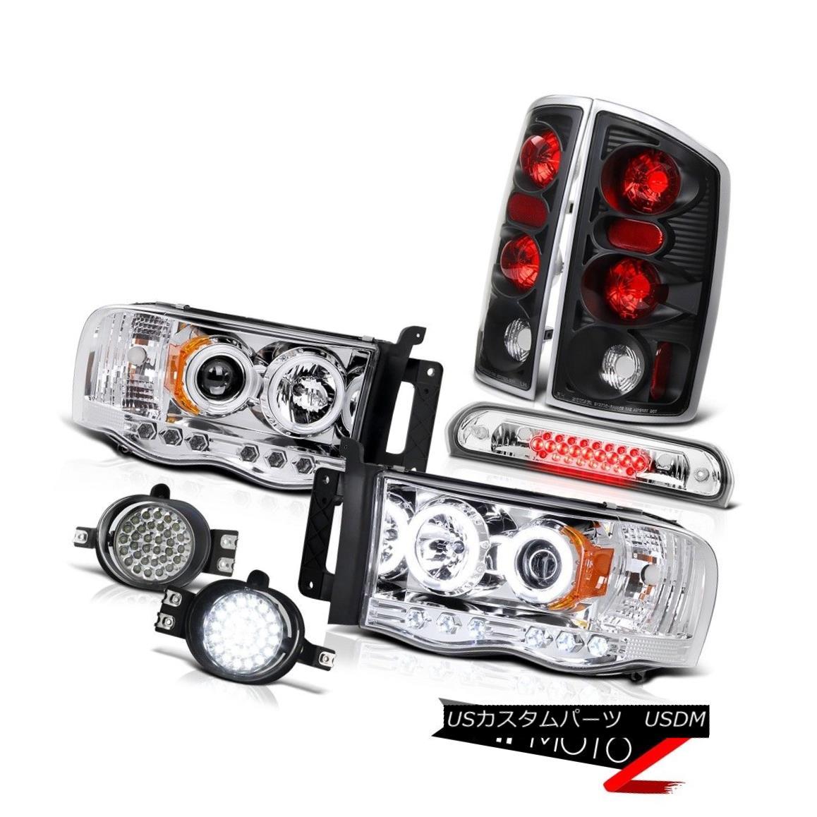 テールライト 02 03 04 05 Ram CCFL Chrome Halo Headlights Tail Brake LED Bumper Fog Roof Cargo 02 03 04 05ラムCCFLクロームハローヘッドライトテールブレーキLEDバンパーフォグ屋根貨物