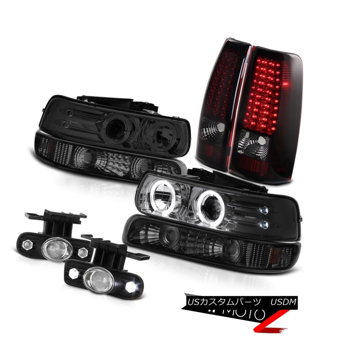 テールライト 1999-2002 Silverado 6.0L Halo LED Headlights Smoke Signal Taillights Fog Lights 1999-2002 Silverado 6.0L Halo LEDヘッドライト煙信号曇り灯
