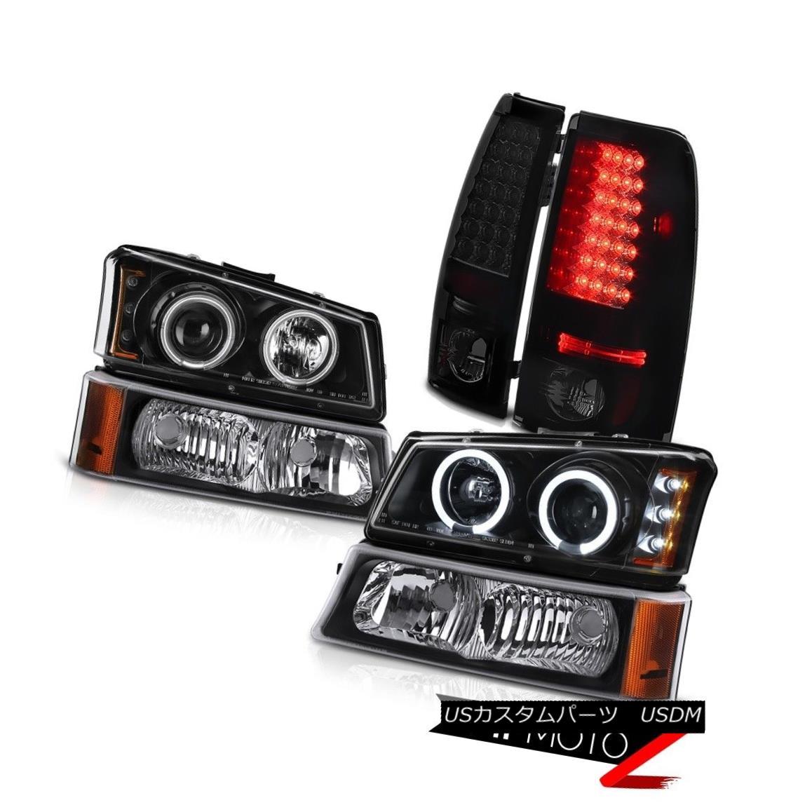 テールライト 2003-2006 Silverado Vortec Max CCFL Halo Black Head Lights Signal LED Taillights 2003-2006 Silverado Vortec Max CCFL Haloブラックヘッドライト信号LEDの曇り