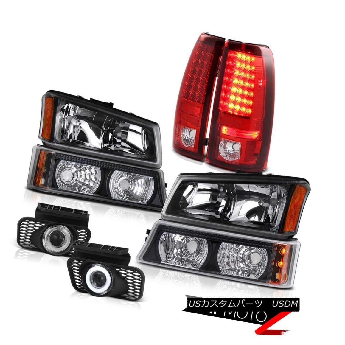 テールライト Left Right Headlights Lights LED Brake Taillights Projector Foglamp Silverado SS 左のライトヘッドライトライトLEDブレーキテールライトプロジェクターFoglamp Silverado SS