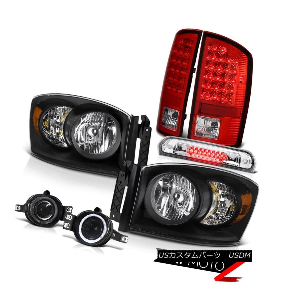 テールライト 2007 2008 Ram Left Right Headlamp LED Tail Lights Projector Foglights High Brake 2007年2008ラム左ライトヘッドランプLEDテールライトプロジェクターフォグライトハイブレーキ
