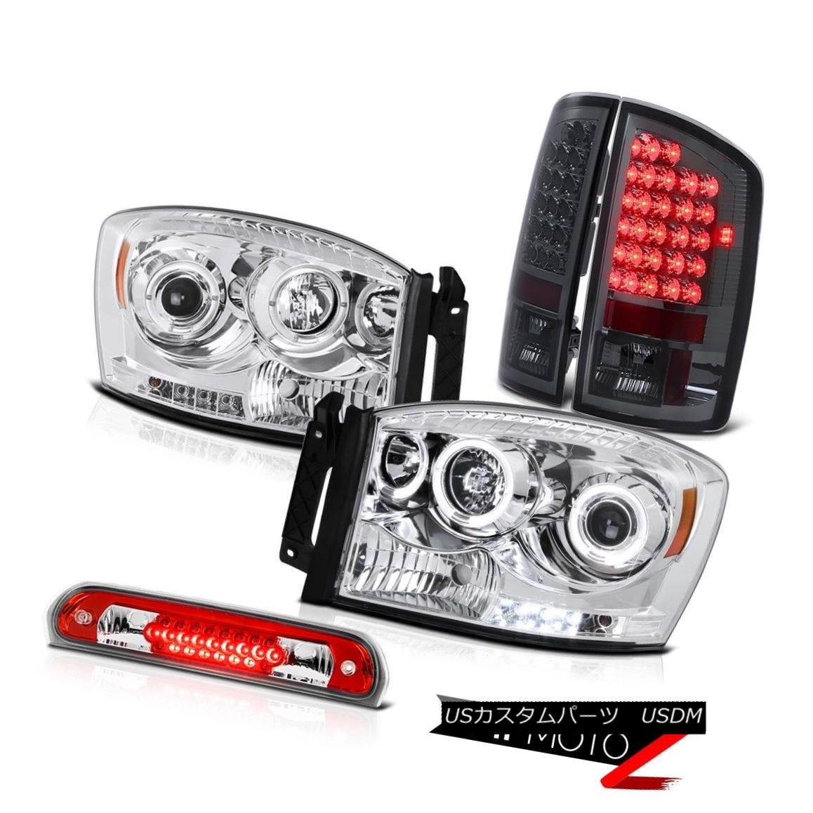 テールライト Chrome LED Daytime Headlights Brake Tail Lights Roof Red 2007-2008 Ram Magnum V8 クロームLED昼間ヘッドライトブレーキテールライトルーフレッド2007-2008ラムマグナムV8
