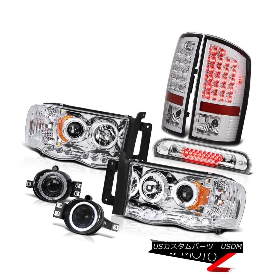テールライト 02 03 04 05 Ram V8 Chrome Halo Headlights Brake Taillights Fog High Stop LED 3rd 02 03 04 05ラムV8クロームハローヘッドライトブレーキテールライトフォグハイストップLED 3rd