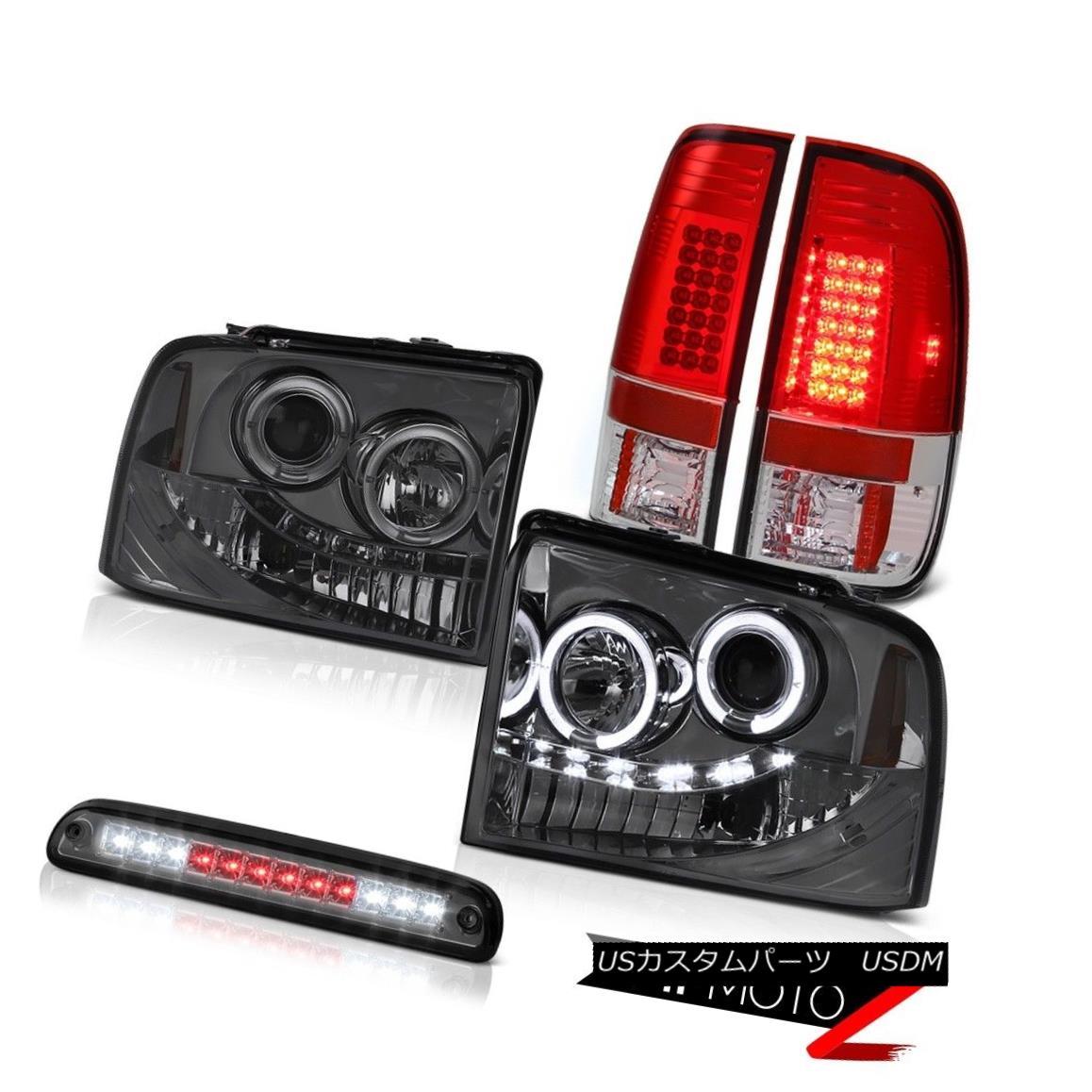 テールライト Halo Smoke Headlights Brake Tail Lights LED High Cargo 05-07 F250 Turbo Diesel Halo SmokeヘッドライトブレーキテールライトLED High Cargo 05-07 F250ターボディーゼル