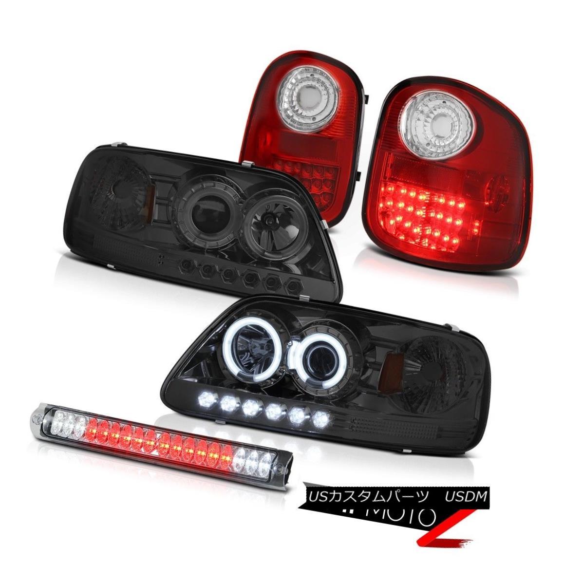 テールライト 97-03 F150 Flareside 4.2L CCFL Headlights Red Brake LED Tail Lights Chrome 3rd 97-03 F150フラレイド4.2L CCFLヘッドライトレッドブレーキLEDテールライトクローム3rd