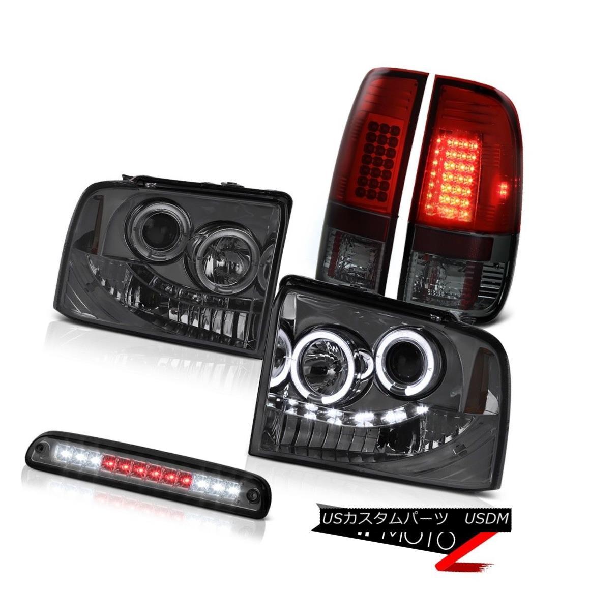 テールライト Tinted Headlights LED Bulbs Tail Lamps 3rd Brake 05 06 07 F350 Harley Davidson ティンテッドヘッドライトLED電球テールランプ3rdブレーキ05 06 07 F350ハーレーダビッドソン