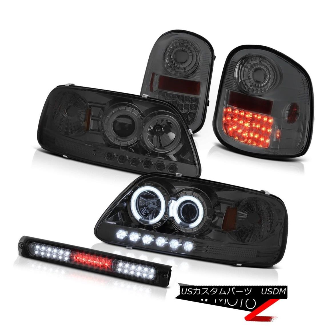 テールライト CCFL Smoke Halo Headlights Taillights Brake LED 1997-2003 F150 Flareside Lariat CCFLスモークハローヘッドライトテールライトブレーキLED 1997-2003 F150 Flareside Lariat