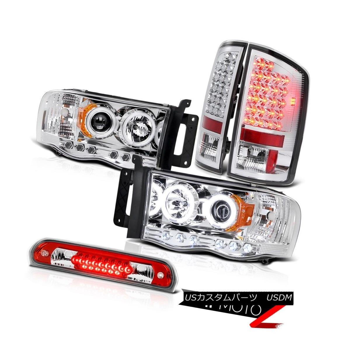テールライト CCFL Ring Headlamps Chrome LED Taillights Wine Red Third 02 03 04 05 Ram SRT-10 CCFLリングヘッドライトクロームLED曇りワインレッドサード02 03 04 05ラムSRT-10