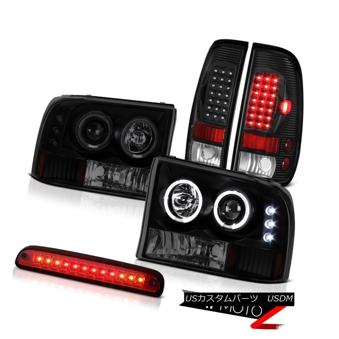 テールライト Halor Headlight High Stop LED Red SMD TailLight Black 99 00 01 02 03 04 F350 XLT ハローヘッドライトハイストップLEDレッドSMDテールライトブラック99 00 01 02 03 04 F350 XLT