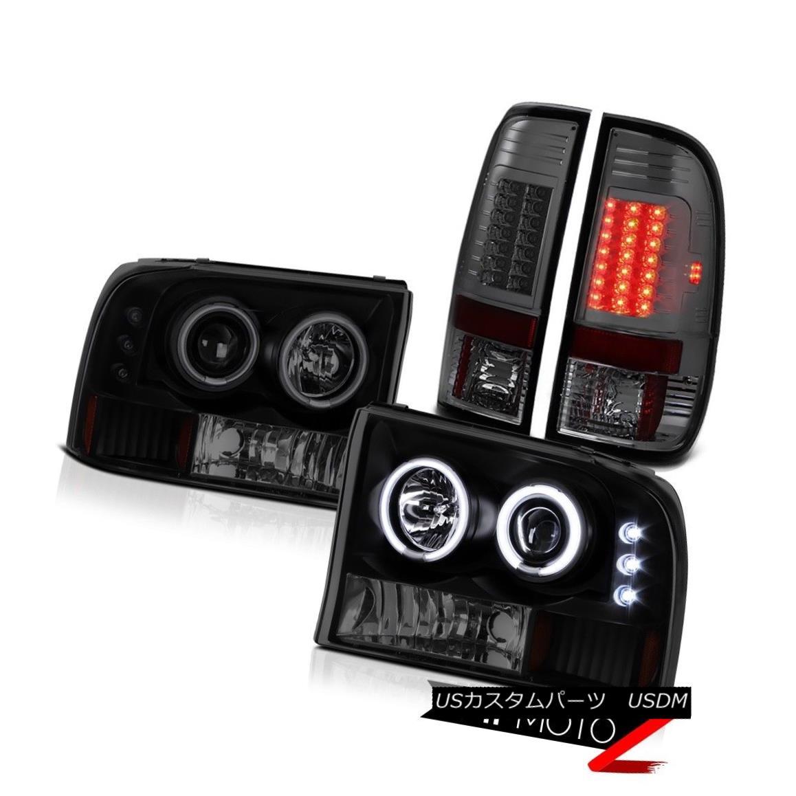 テールライト Smoke Rear Taillights LED CCFL Halo DRL Signal Corner Headlights F-Series Diesel スモークリア尾灯LED CCFL Halo DRLシグナルコーナーヘッドライトFシリーズディーゼル