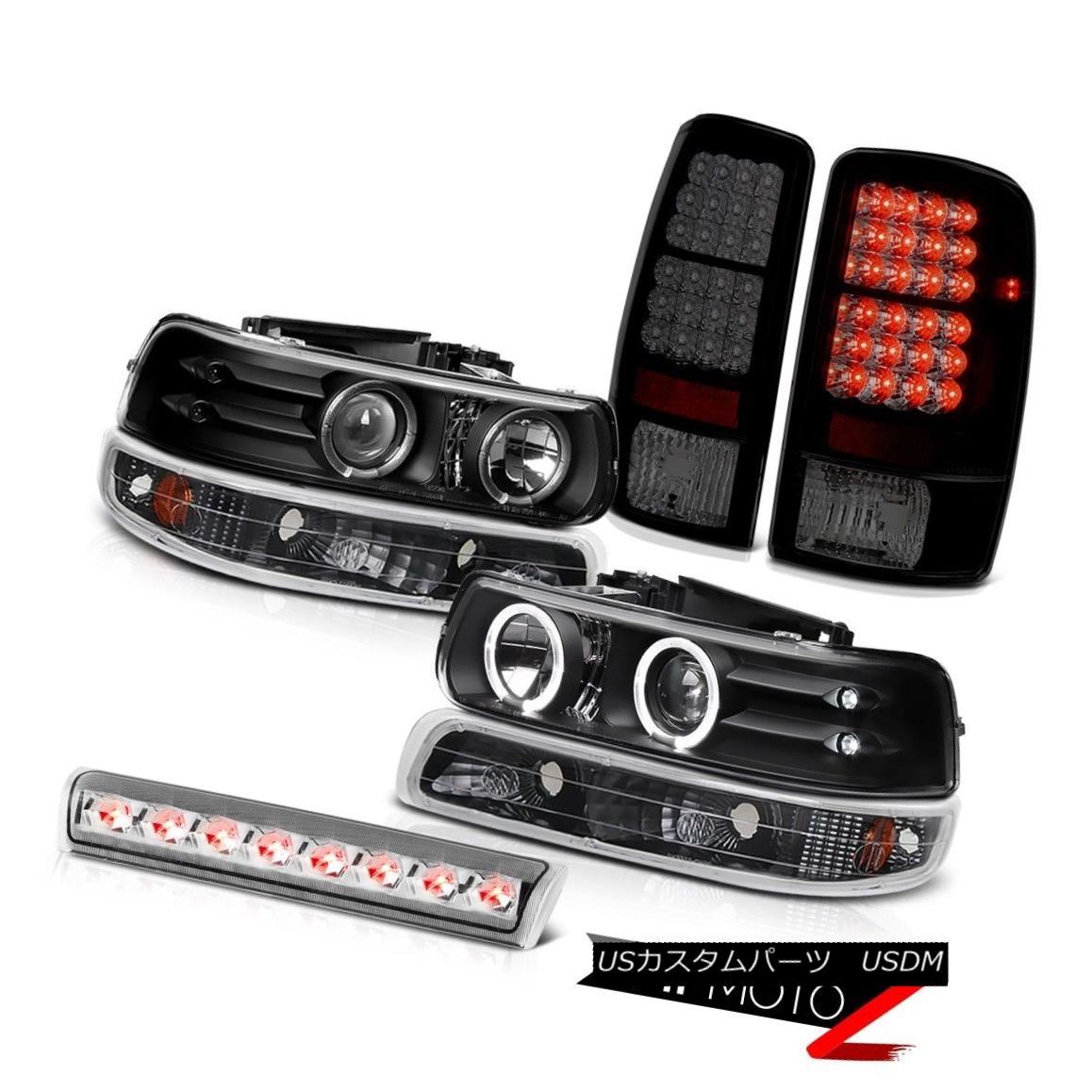テールライト 2X Angel Eye Headlights Signal Smoke LED Tail Lights 3rd Brake 00-06 Suburban 2Xエンジェルアイヘッドライト信号スモークLEDテールライト3rdブレーキ00-06郊外