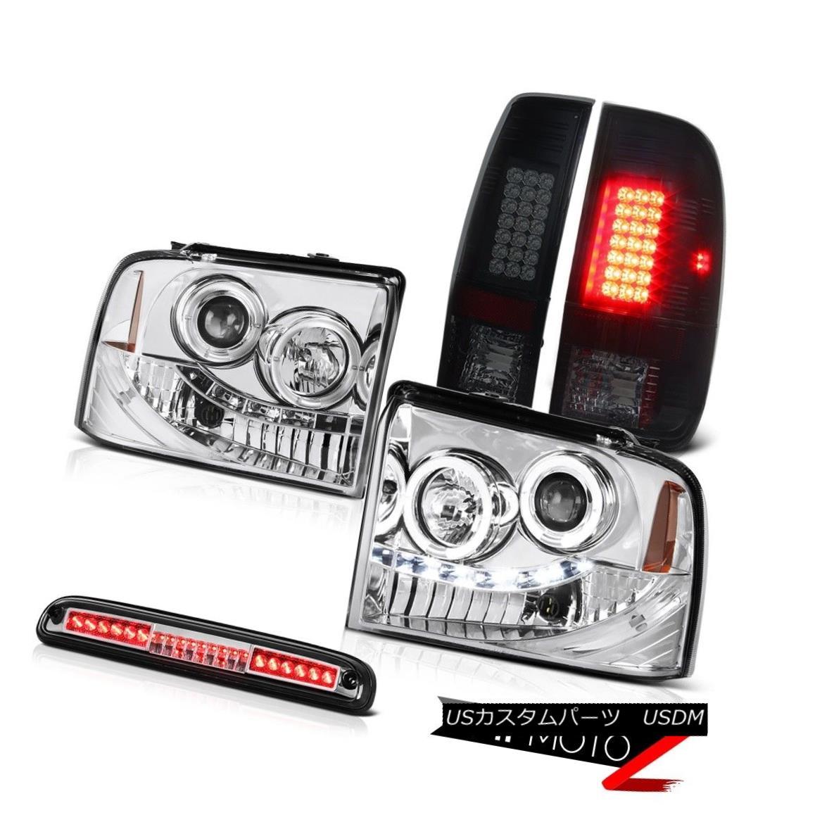 テールライト Projector Headlight Smoke LED Tail Light Lamp Roof Stop Clear 05 06 07 Ford F350 プロジェクターヘッドライト煙LEDテールライトランプルーフストップクリア05 06 07 Ford F350