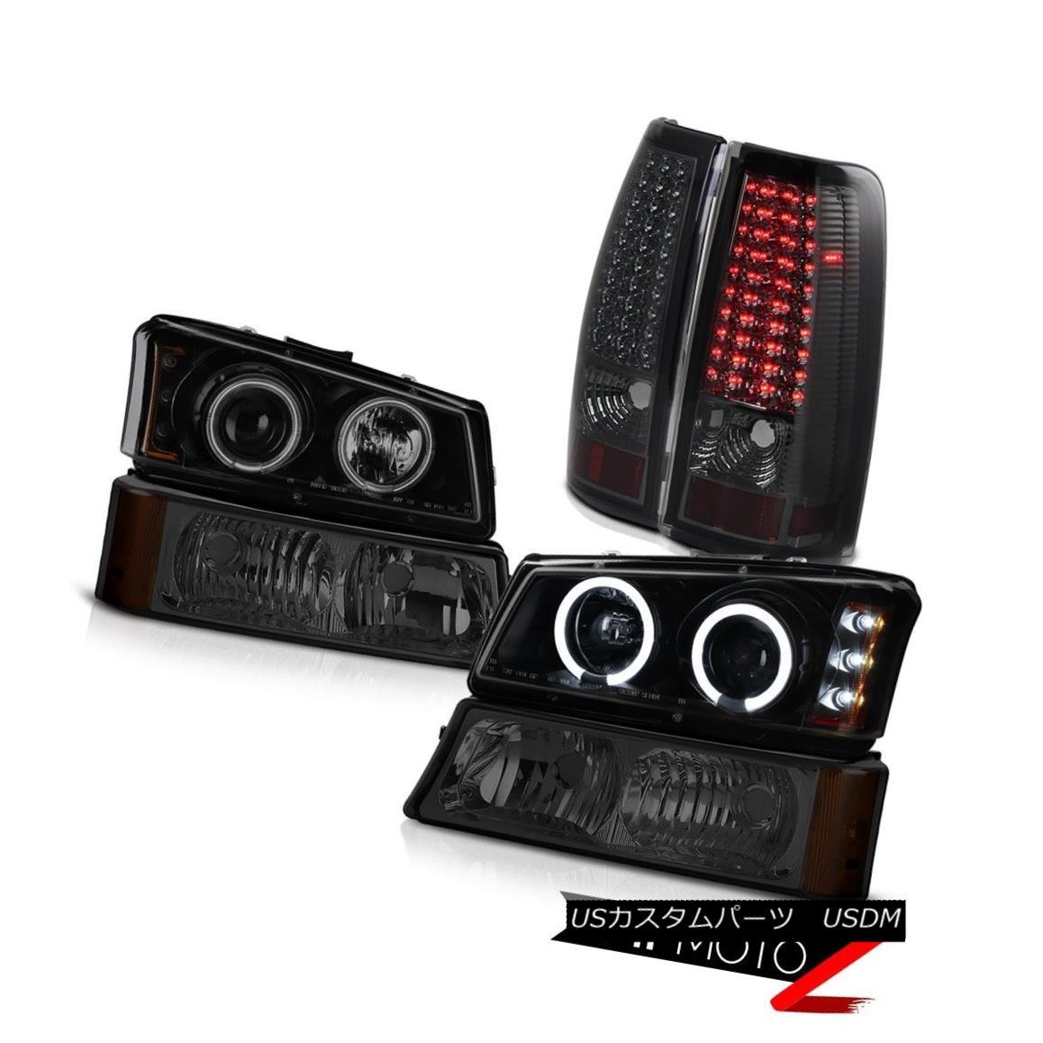 テールライト Fluorescence Angel Eye Head Lights Signal LED Tail Lights 03-06 Silverado 3500HD 蛍光エンジェルアイヘッドライト信号LEDテールライト03-06 Silverado 3500HD