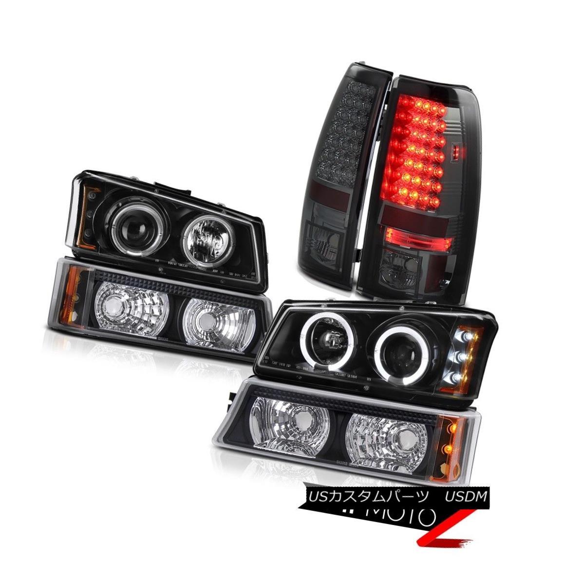 テールライト 2005 2006 Chevy Silverado Projector Black Headlight Bumper Tail Light LED Tinted 2005年2006シボレーシルバラードプロジェクターブラックヘッドライトバンパーテールライトLED Tinted