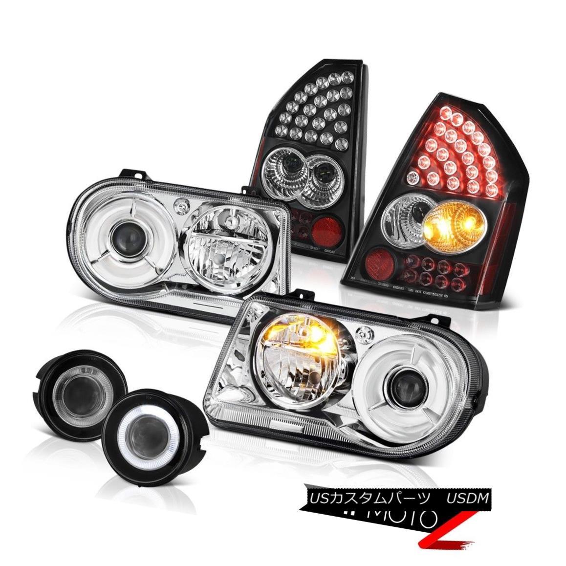テールライト Chrome Headlamps Clear Tail Light Assembly Euro Fog 2005 2006 2007 Chrysler 300C クロムヘッドランプクリアテールライトアセンブリEuro Fog 2005 2006 2007 Chrysler 300C