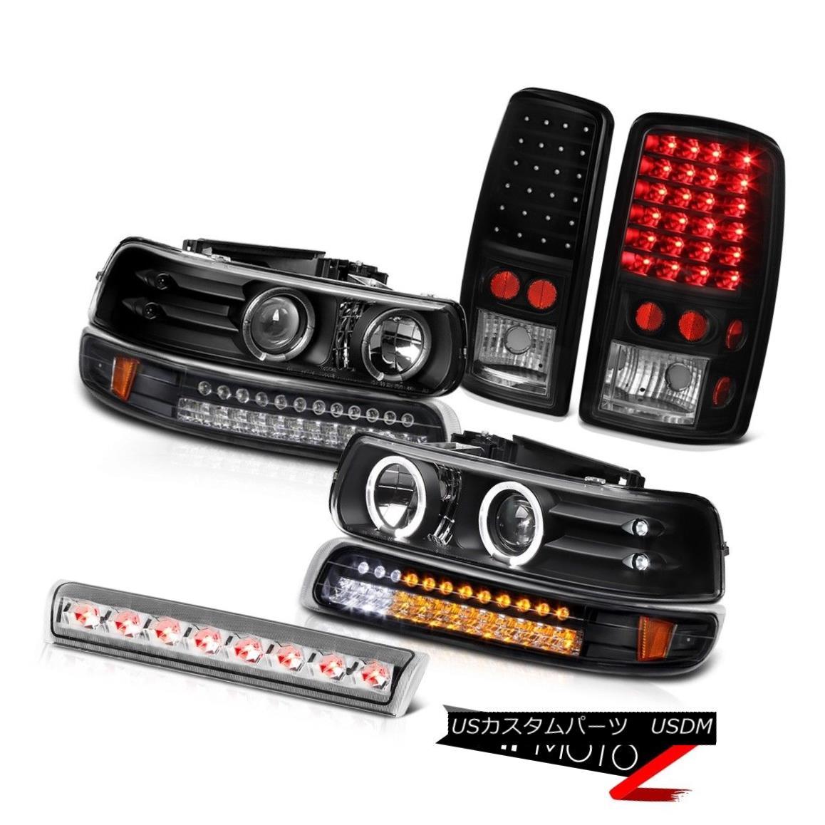 テールライト DRL LED Angel Eye Headlights SMD Tail Lights High Brake 2000-2006 Chevy Tahoe DRL LEDエンジェルアイヘッドライトSMDテールライトハイブレーキ2000-2006 Chevy Tahoe