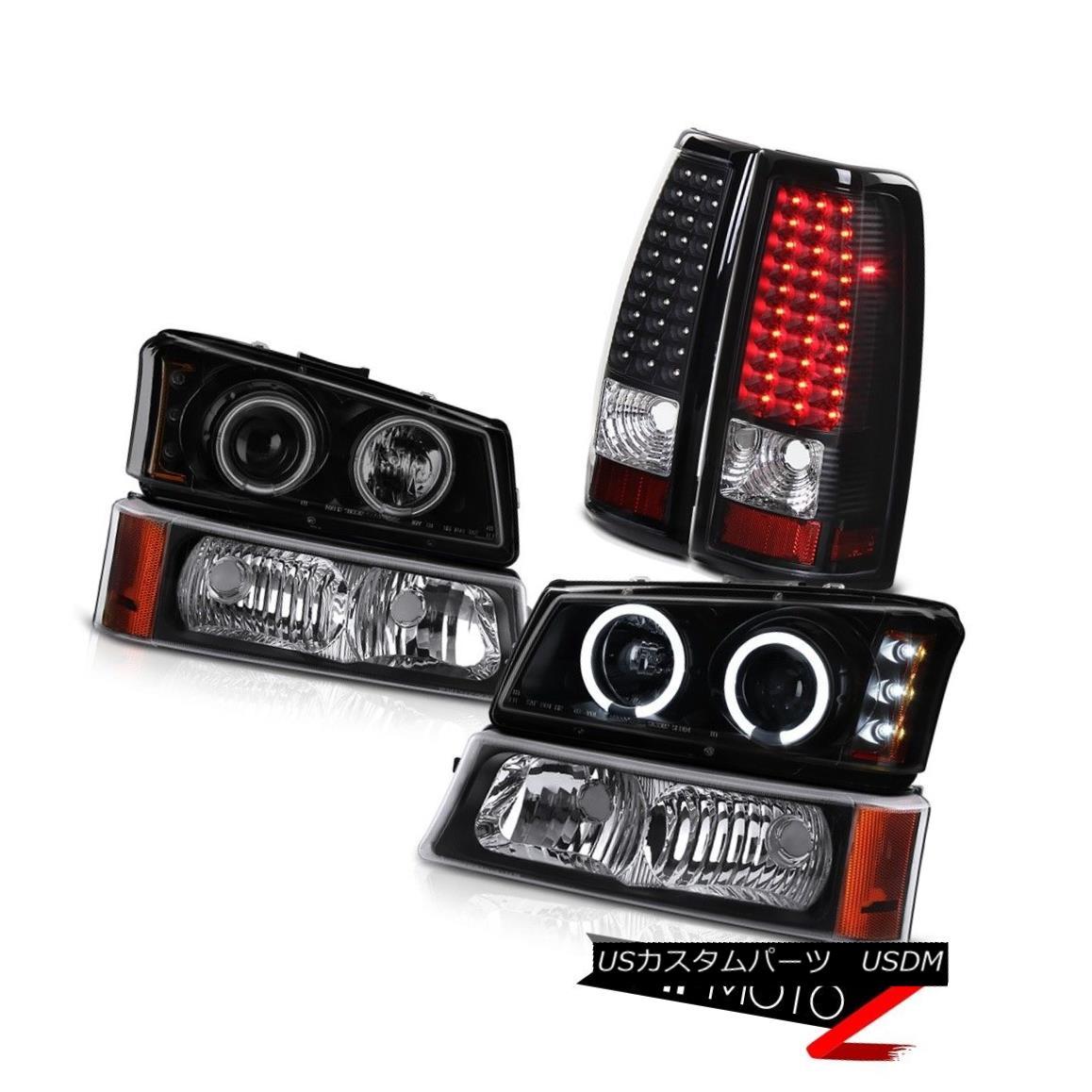 テールライト Headlights w/CCFL Ring Black Bumper Signal LED Tail Lamps 03-06 Silverado Vortec CCFLリング付きヘッドライトブラックバンパー信号LEDテールランプ03-06 Silverado Vortec