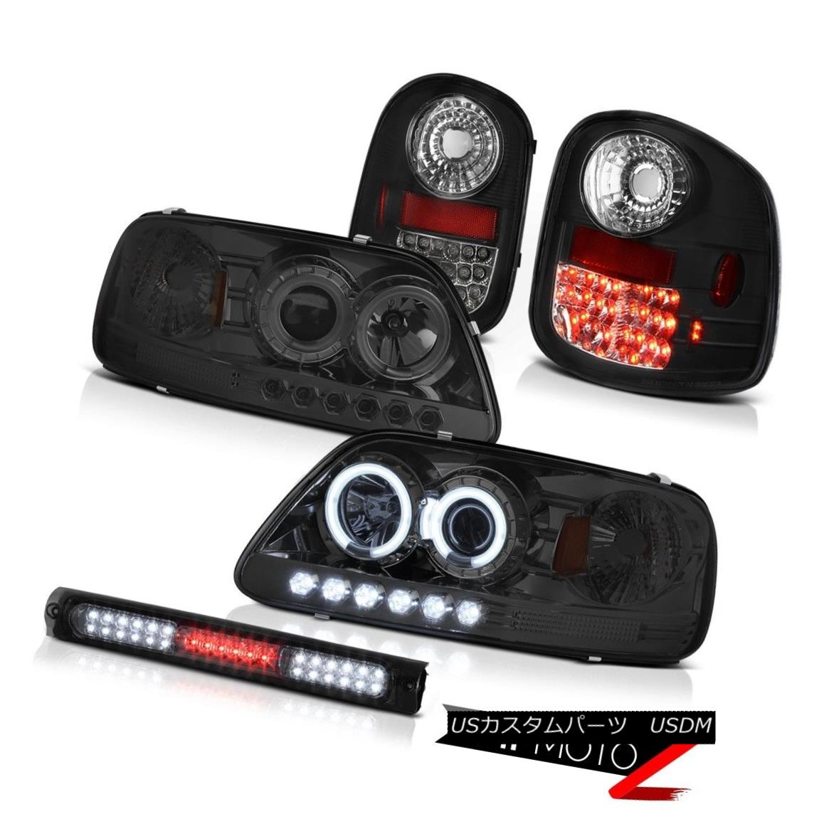 テールライト Quality CCFL Headlights Bright L.E.D Tail Lights Brake 97-03 F150 Flareside SVT 品質CCFLヘッドライトブライトL.E.Dテールライトブレーキ97-03 F150 Flareside SVT
