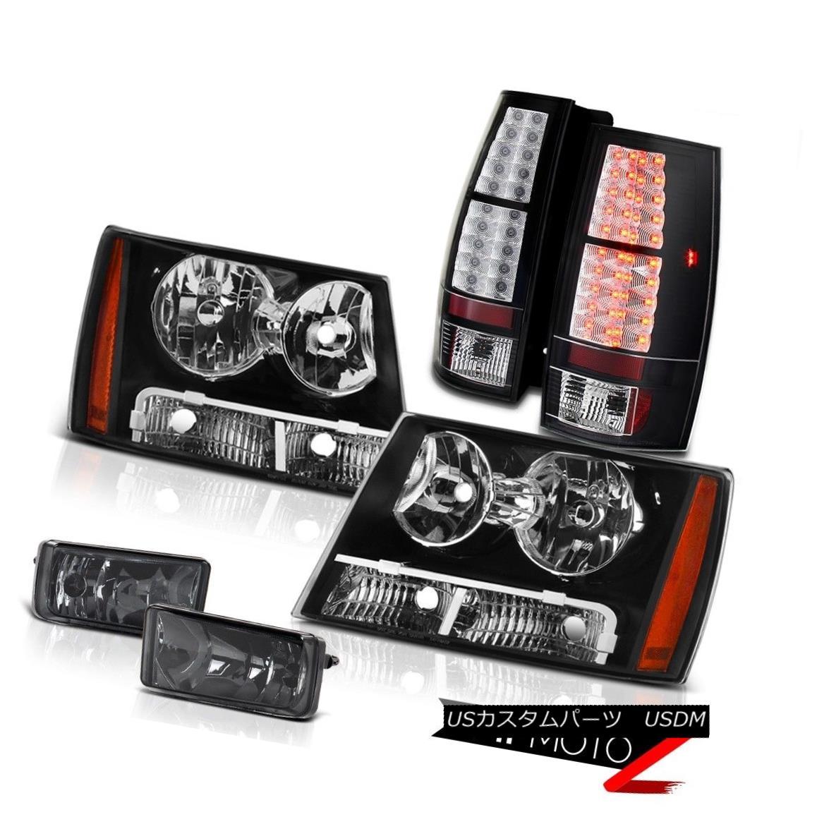 テールライト REAL GLASS Smoke Fog Light+Black Headlight+LED Brake Tail Lights Suburban Tahoe リアルグラススモークフォグライト+ブラックヘッドライト+ LEDブレーキテールライト郊外のタホ