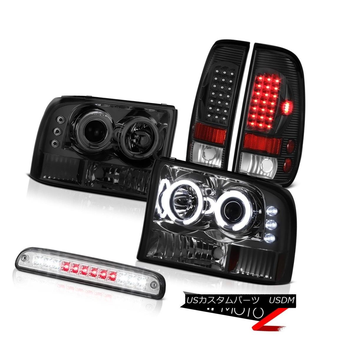 テールライト DRL CCFL Headlights Third Brake Cargo LED L.E.D Rear Tail Light 1999-2004 F350 DRL CCFLヘッドライト第3ブレーキカーゴLED L.E.Dリアテールライト1999-2004 F350